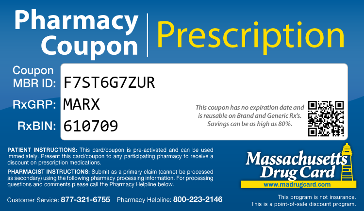 Massachusetts Drug Card - Free Prescription Drug Coupon Card